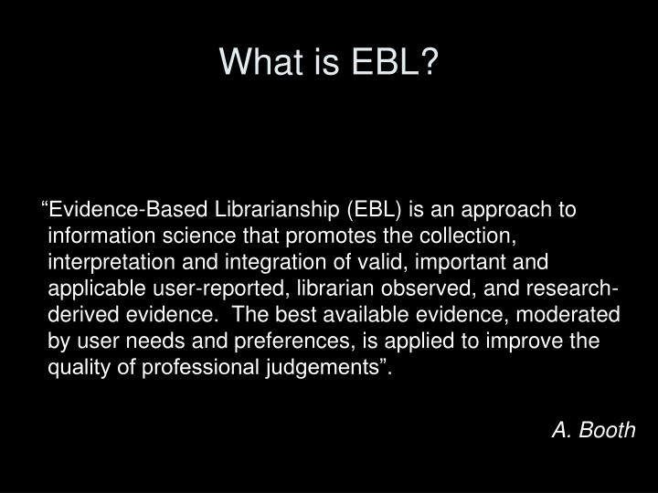 What is ebl