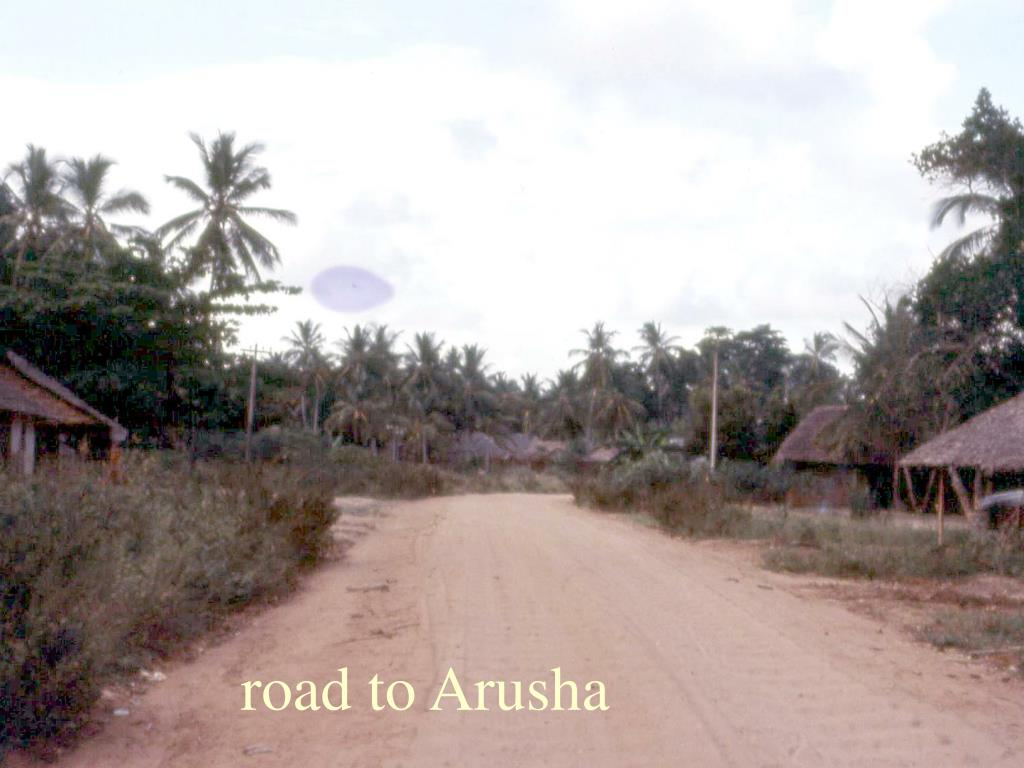road to Arusha
