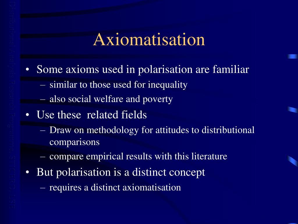 Axiomatisation
