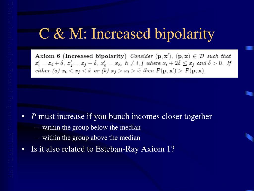 C & M: Increased bipolarity