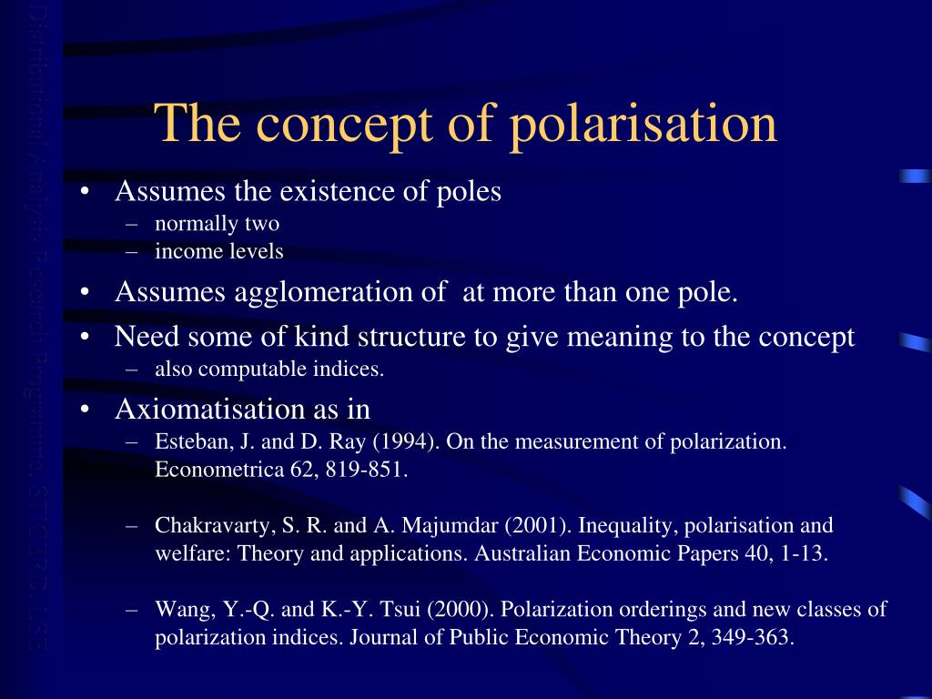 The concept of polarisation