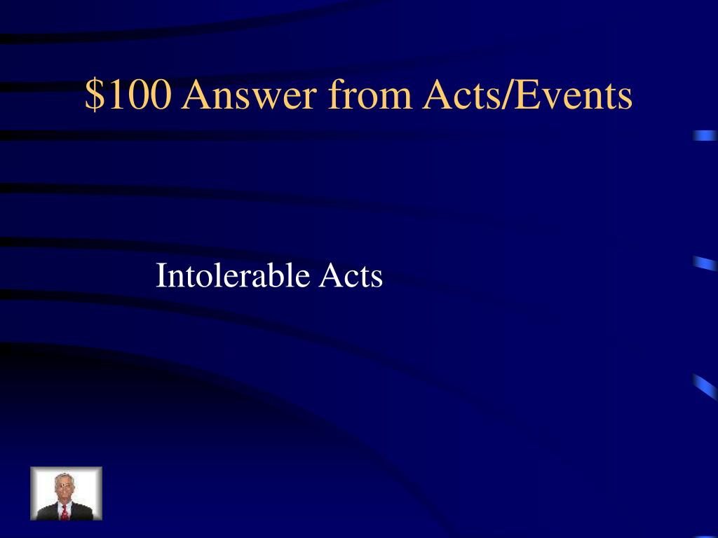 $100 Answer from Acts/Events