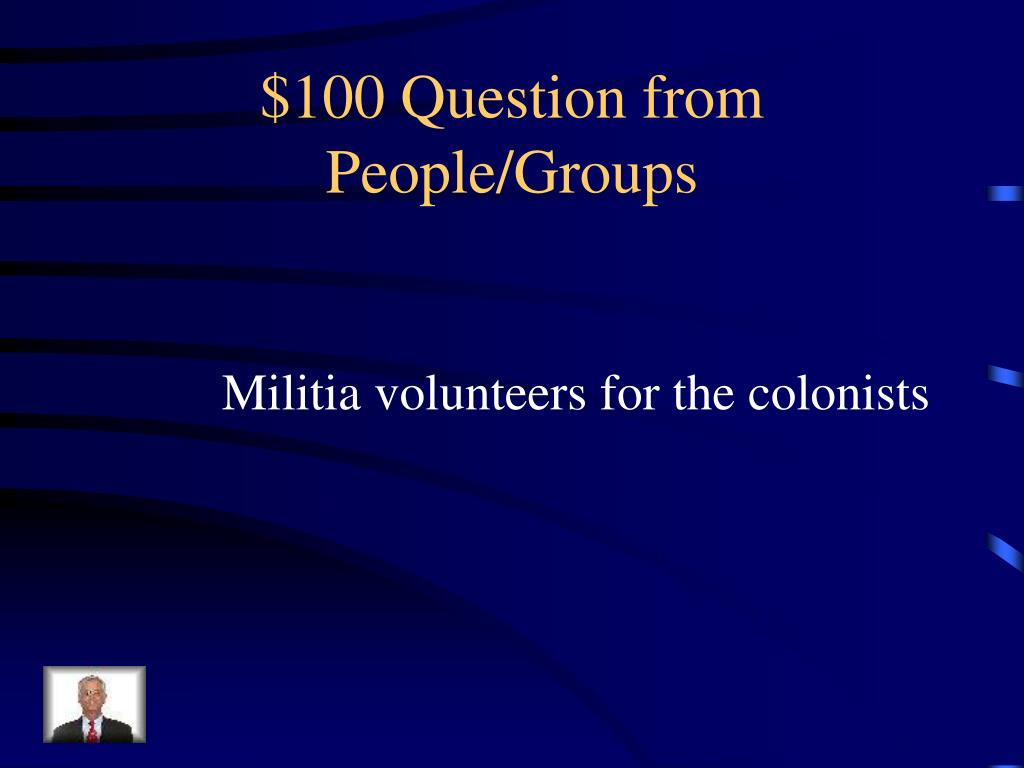 $100 Question from People/Groups