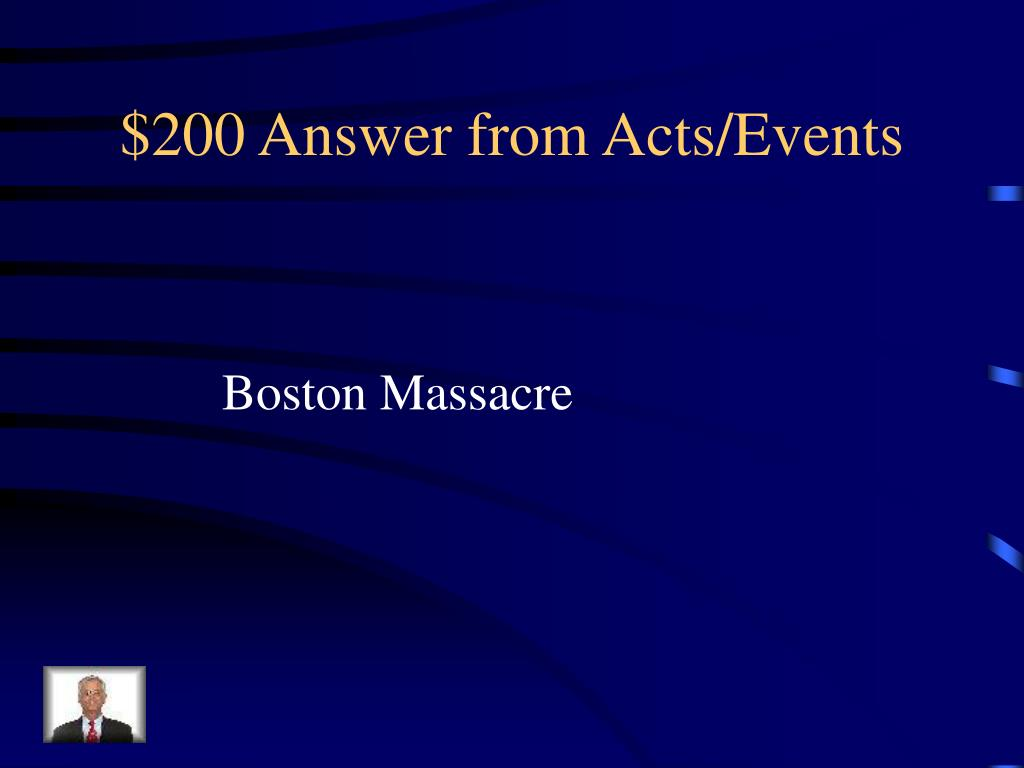 $200 Answer from Acts/Events