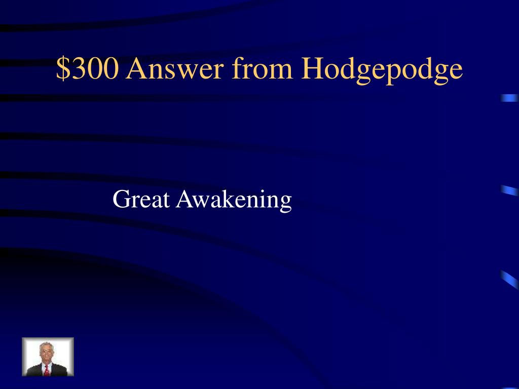 $300 Answer from Hodgepodge