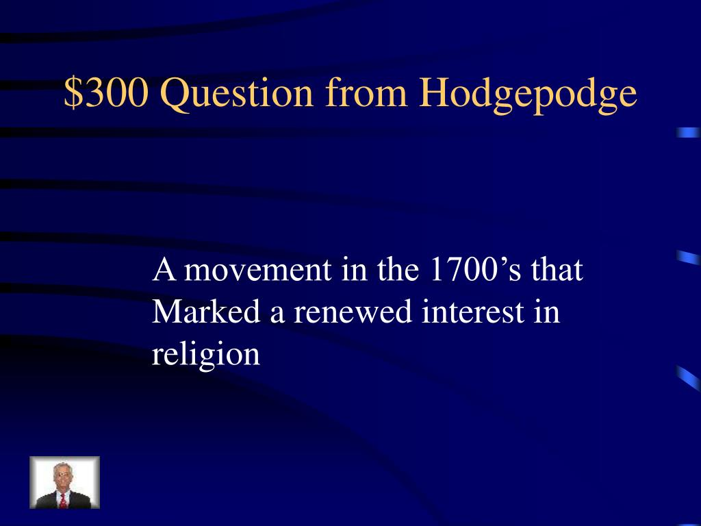 $300 Question from Hodgepodge