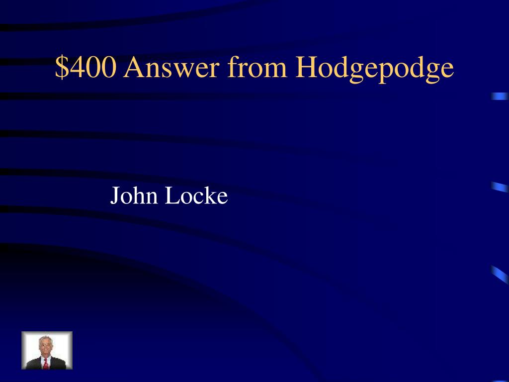$400 Answer from Hodgepodge