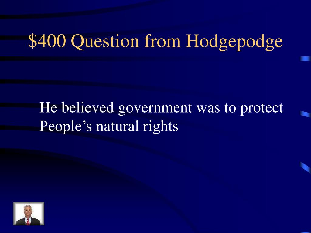 $400 Question from Hodgepodge