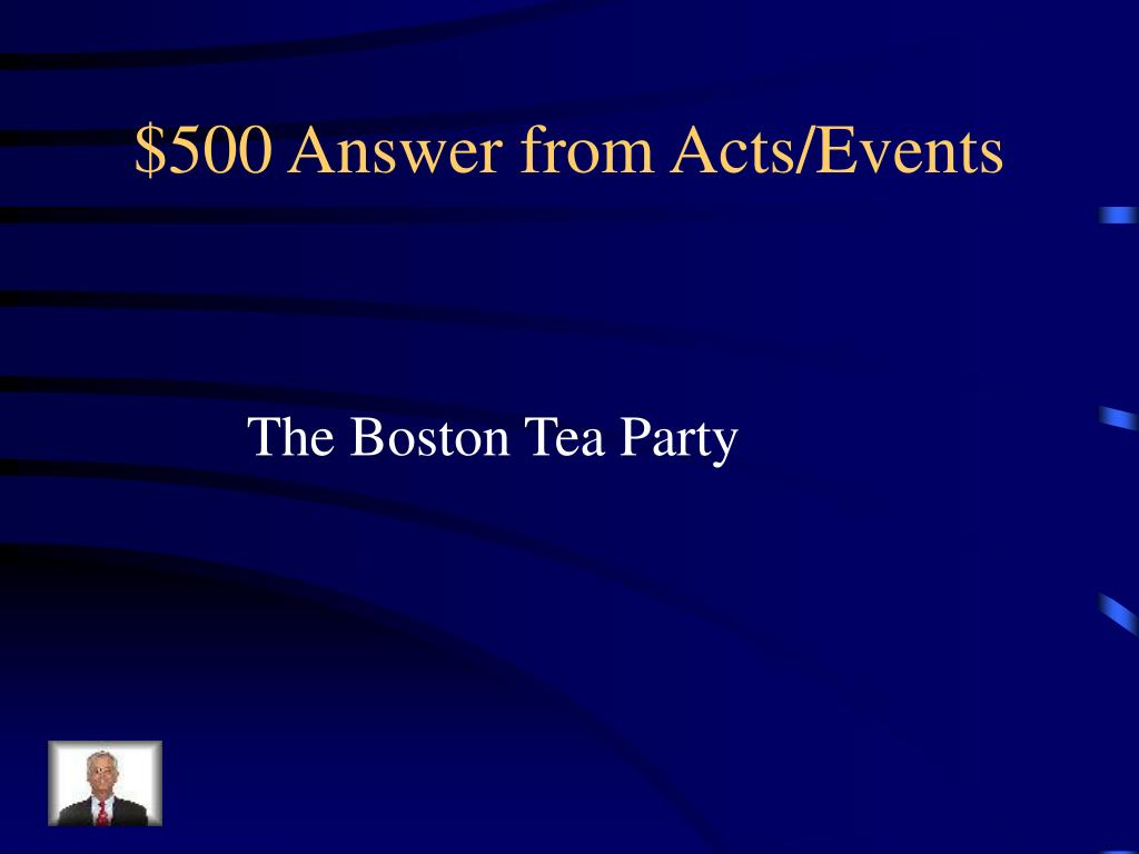 $500 Answer from Acts/Events