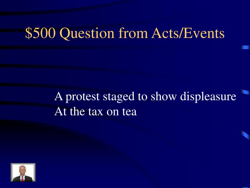 $500 Question from Acts/Events
