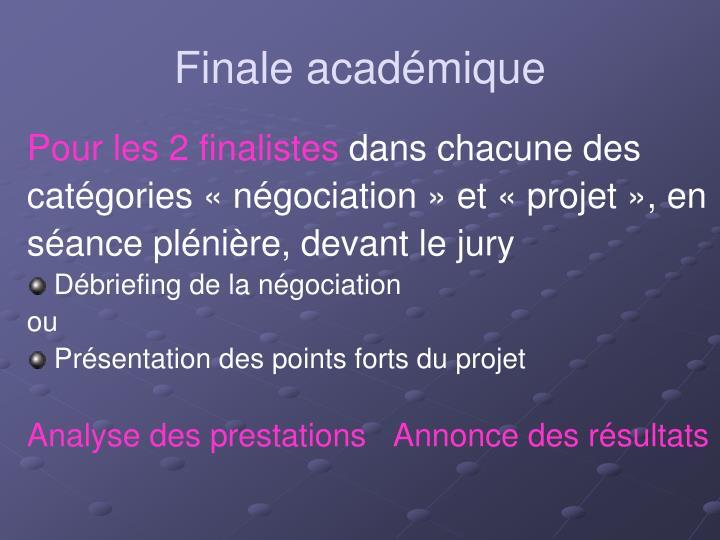 Finale académique