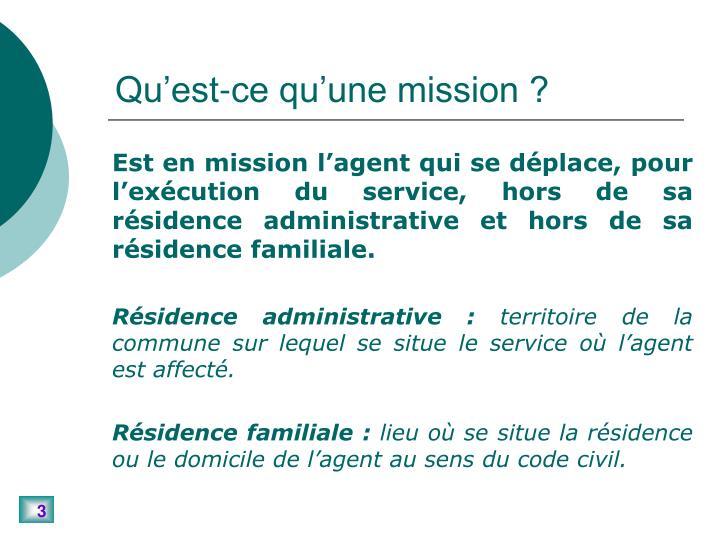 Qu'est-ce qu'une mission ?