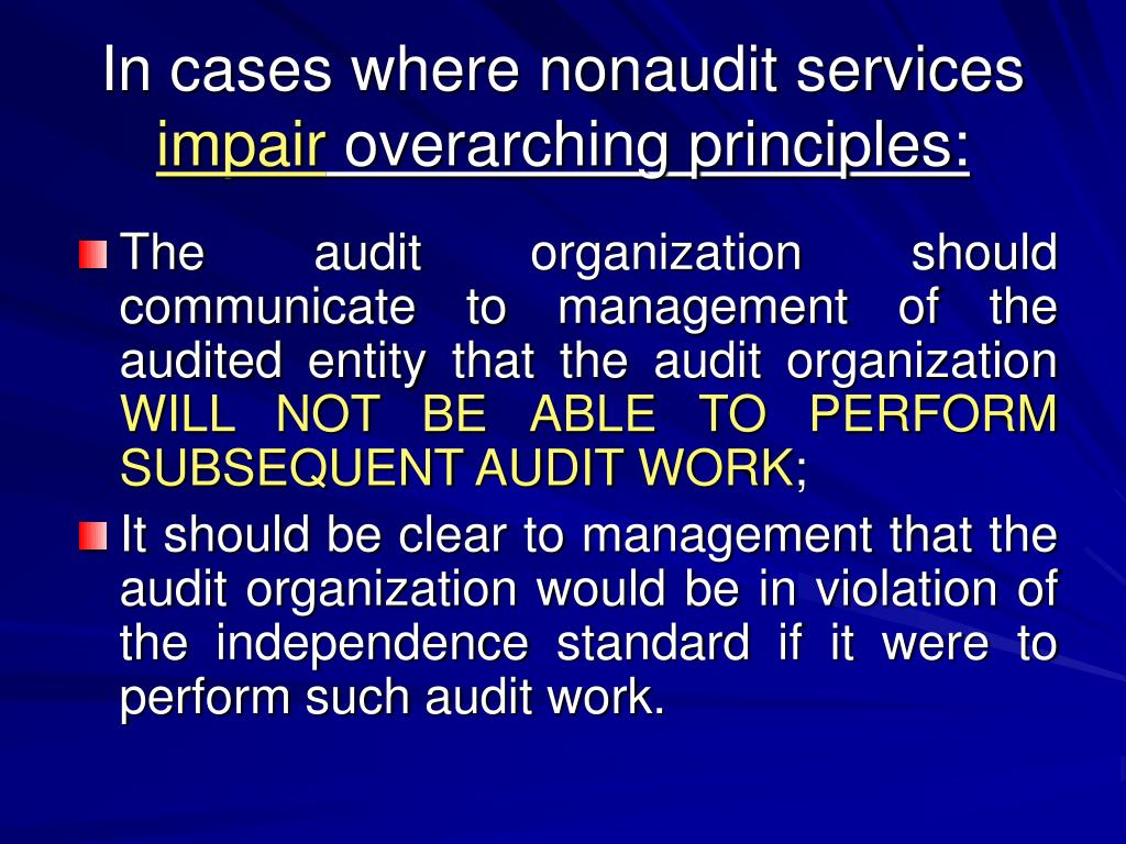 In cases where nonaudit services