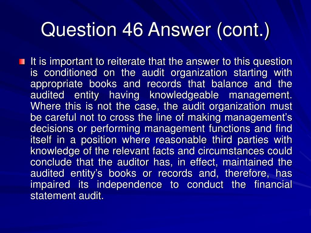 Question 46 Answer (cont.)
