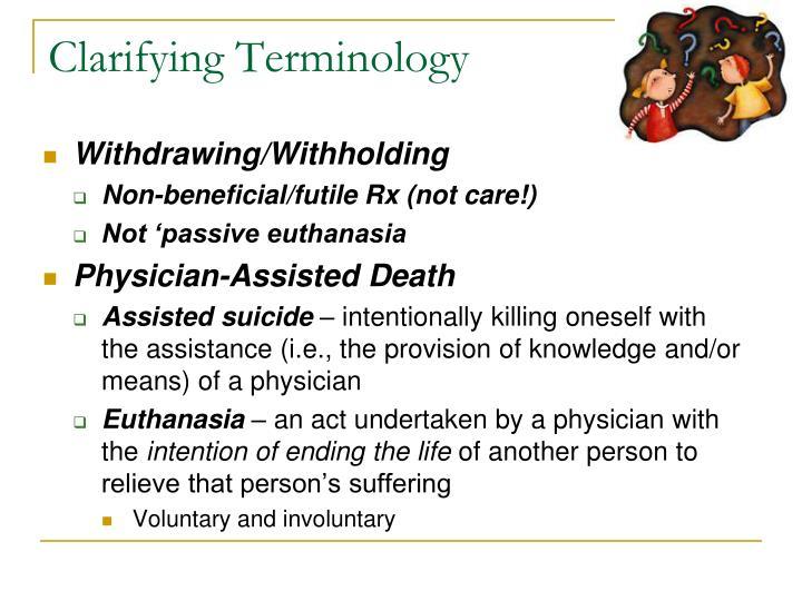 Clarifying Terminology