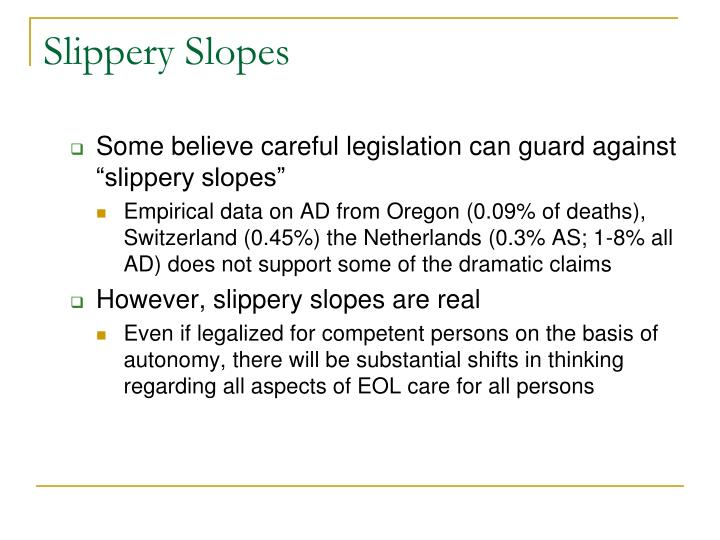 Slippery Slopes
