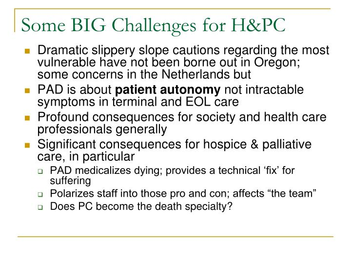Some BIG Challenges for H&PC