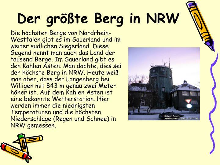 Der größte Berg in NRW