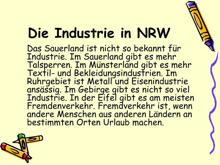 Die Industrie in NRW