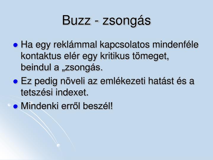 Buzz - zsongás