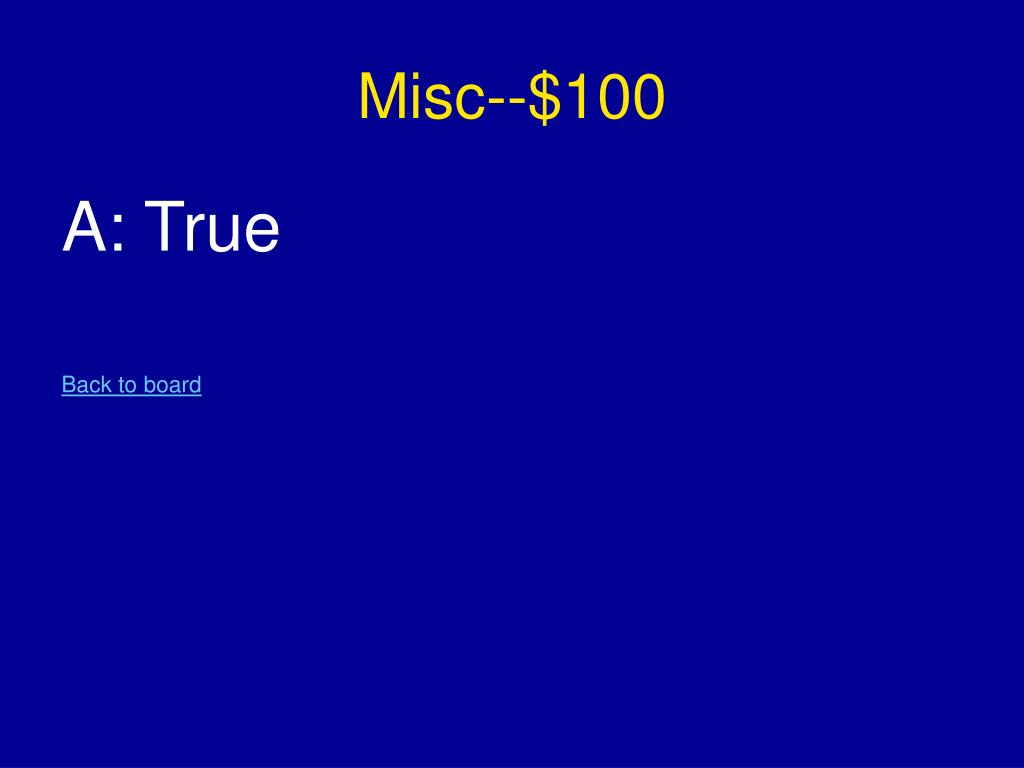 Misc--$100