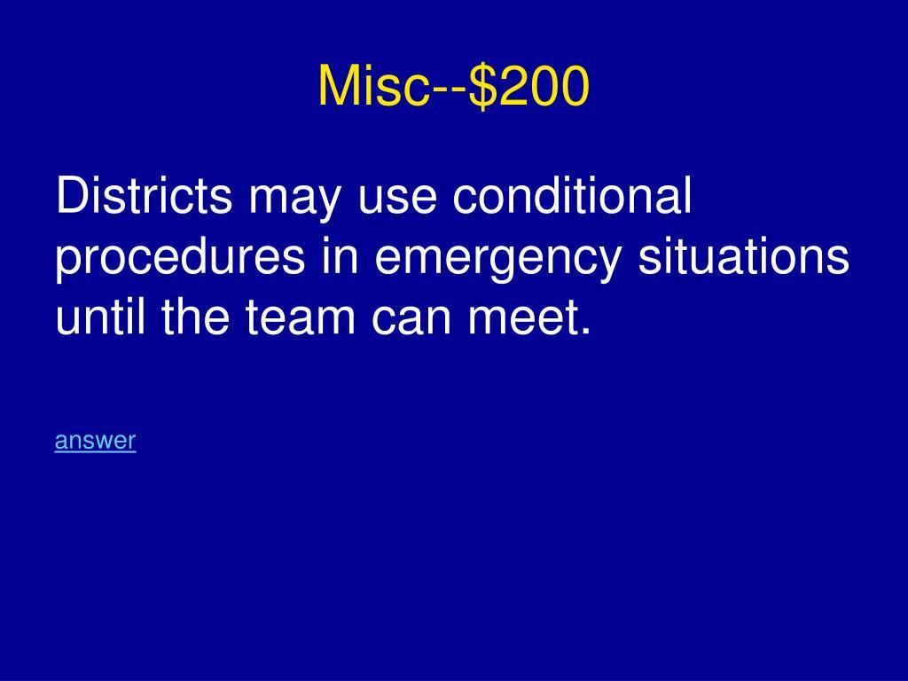 Misc--$200