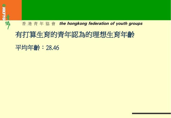 有打算生育的青年認為的理想生育年齡