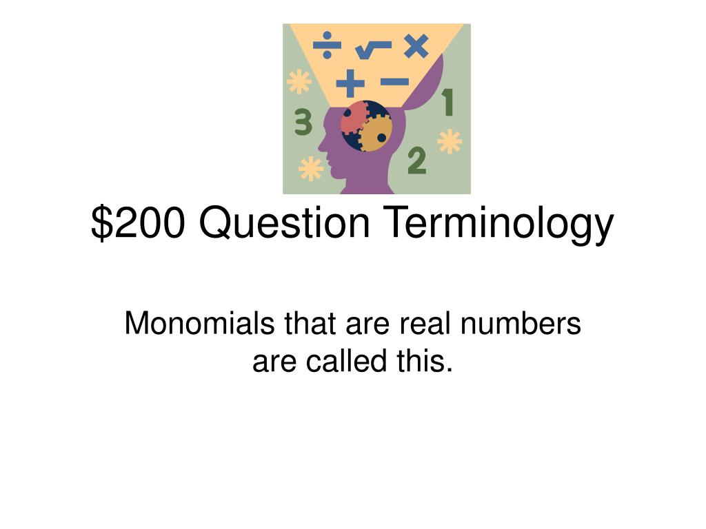 $200 Question Terminology