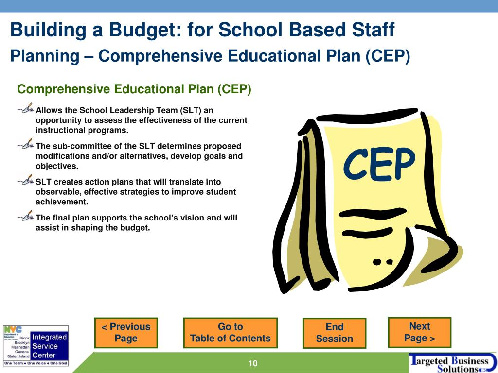 Comprehensive Educational Plan (CEP)