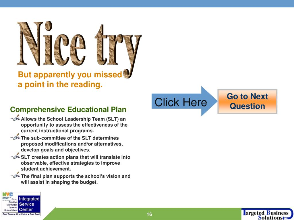 Comprehensive Educational Plan