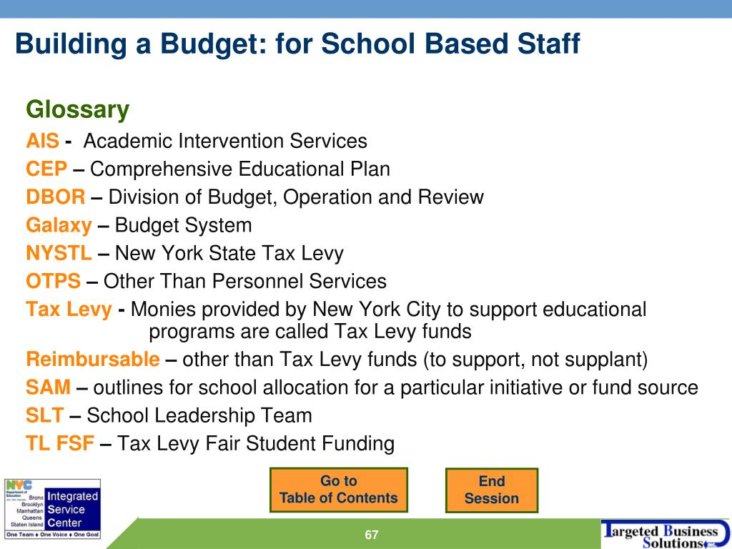 Building a Budget: for School Based Staff