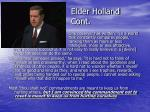 elder holland cont