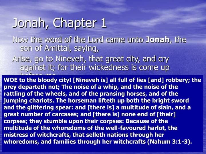 Jonah, Chapter 1