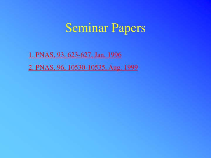 Seminar Papers