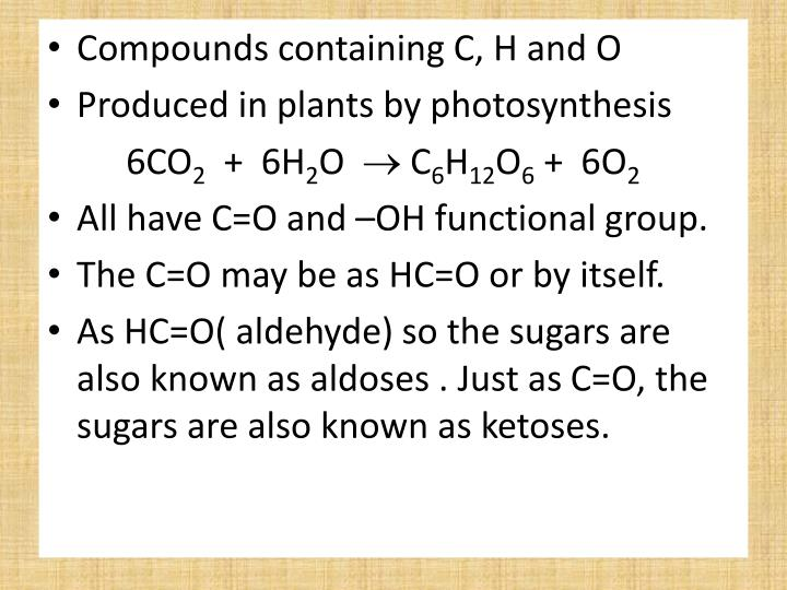 Compounds containing C, H and O