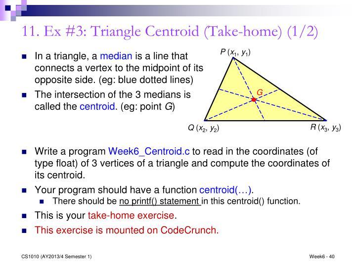 11. Ex #3: Triangle