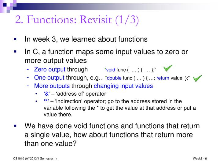 2. Functions: Revisit (1/3)