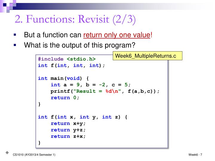 2. Functions: Revisit (2/3)