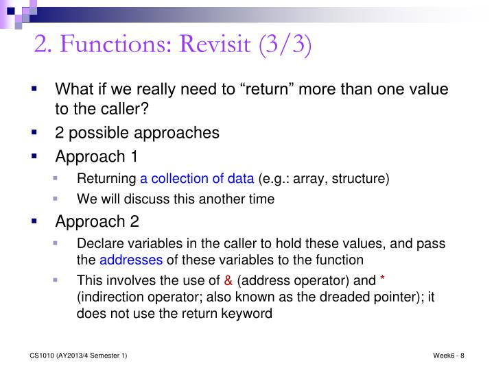 2. Functions: Revisit (3/3)
