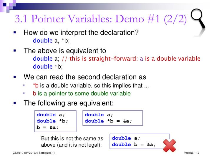 3.1 Pointer Variables: Demo #1 (2/2)