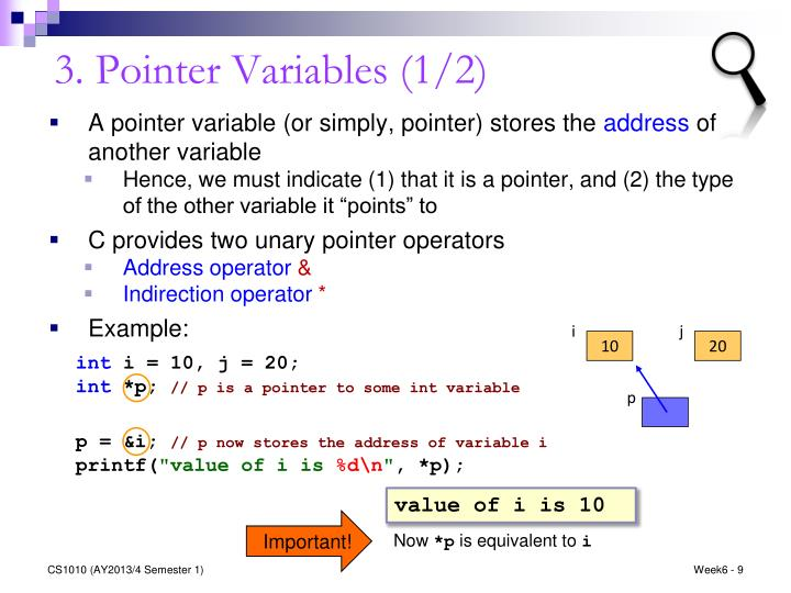 3. Pointer Variables (1/2)