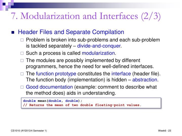 7. Modularization and Interfaces (2/3)