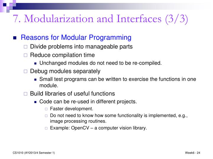 7. Modularization and Interfaces (3/3)