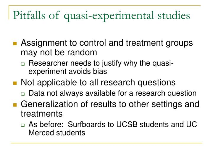 Pitfalls of quasi-experimental studies