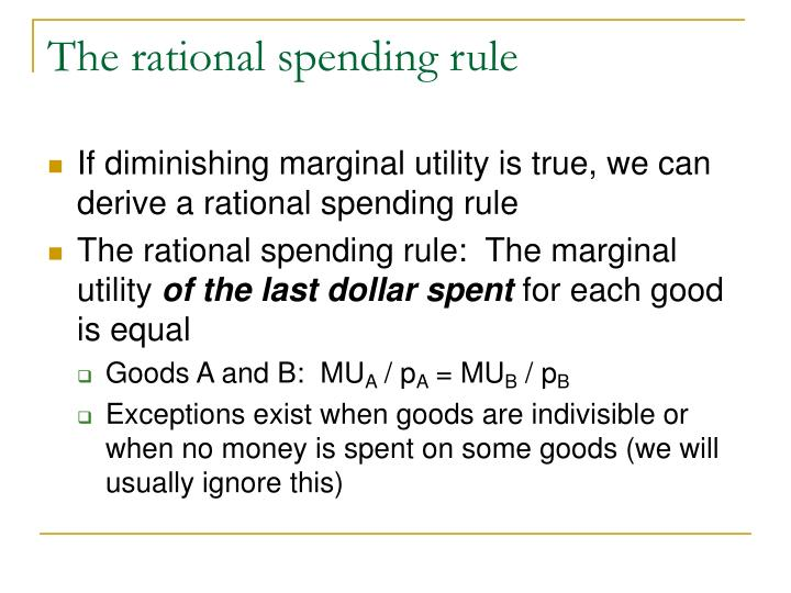 The rational spending rule