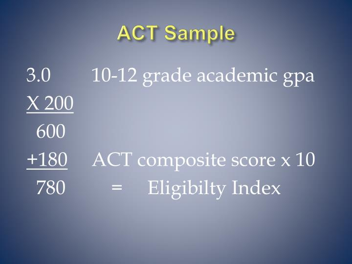 ACT Sample
