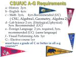 csu uc a g requirements