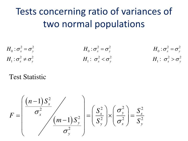 Tests concerning ratio