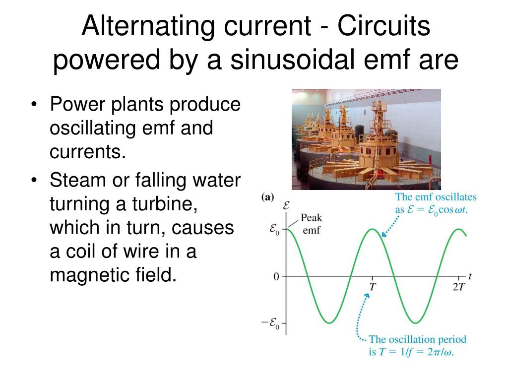 Alternating current - Circuits powered by a sinusoidal emf are
