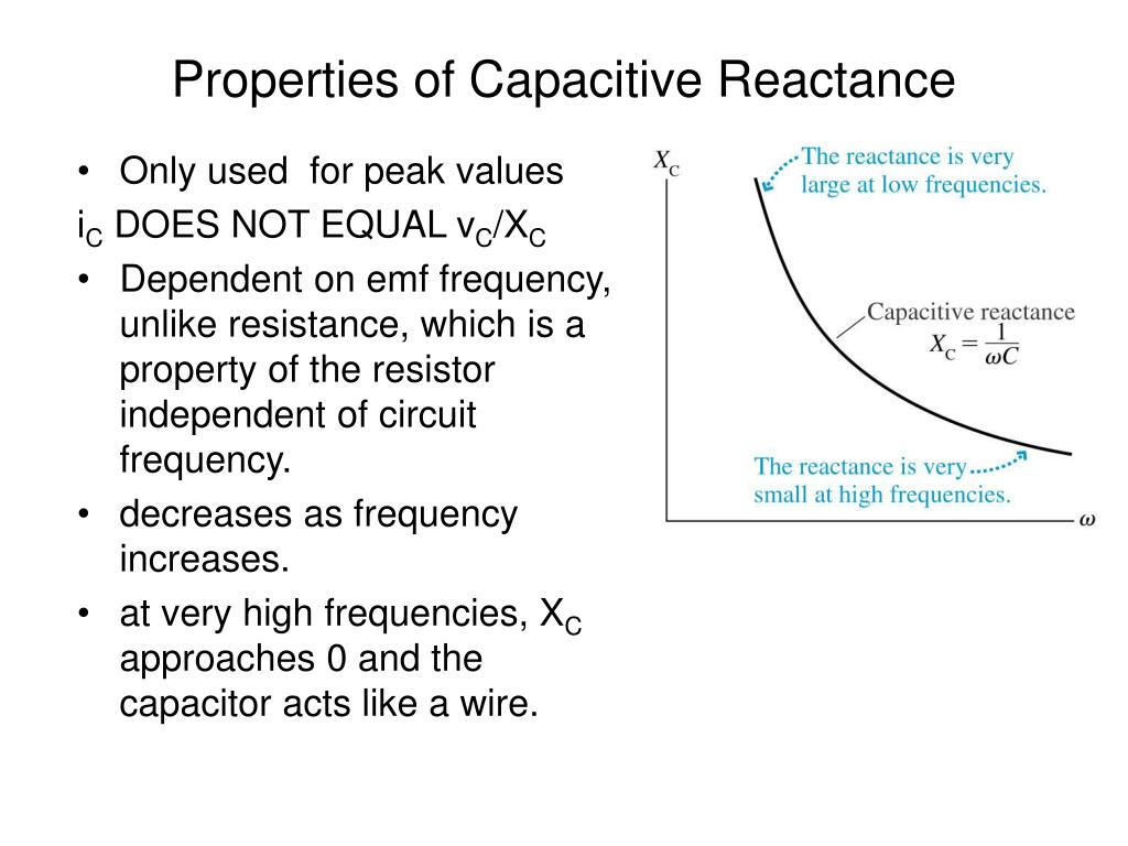 Properties of Capacitive Reactance